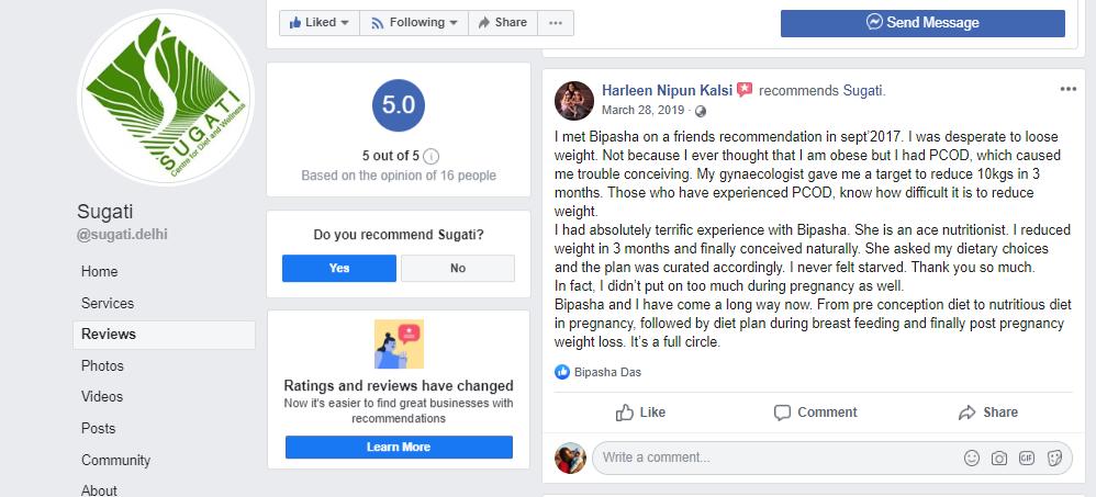 Facebook review from Harleen Nipun Kalsi